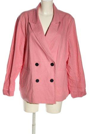 Mango Long-Blazer pink Business-Look