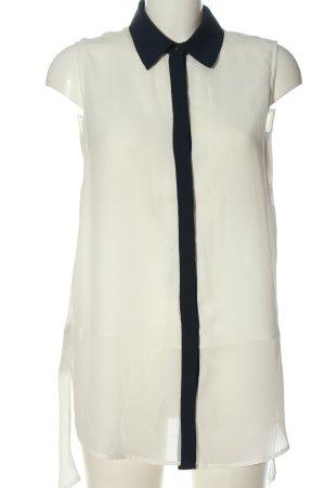 Mango Long-Bluse creme-schwarz Casual-Look