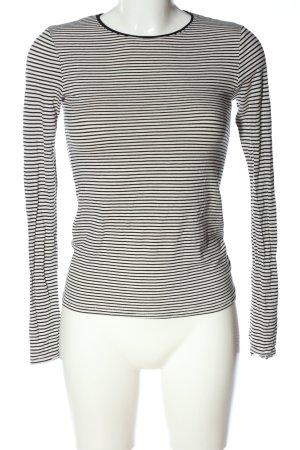 Mango Longsleeve schwarz-weiß Streifenmuster Casual-Look