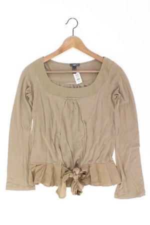 Mango Longsleeve-Shirt Größe S Langarm olivgrün aus Lyocell