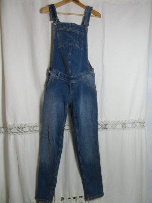 Mango Mama Latzhose Jeans Größe L - Baumwoll Denim - Schwangerschaft - Umstandsmode