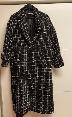Mango Winter Coat black-white