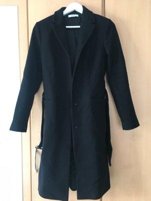 Mango Abrigo de lana negro Lana