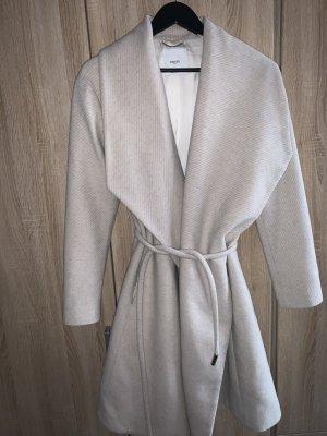 Mango Manteau en laine blanc cassé-crème