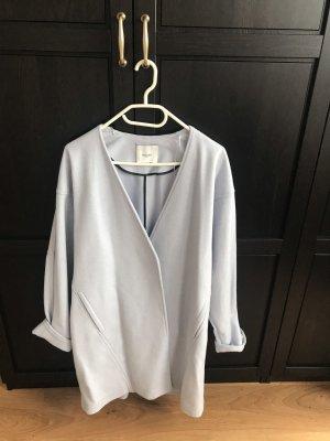 Mango Abrigo de lana azul celeste