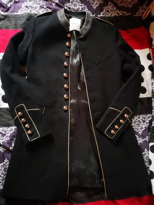 Mango Suit Naval Jacket black-gold-colored