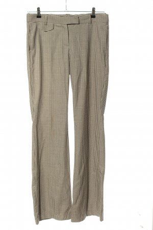 Mango Pantalon Marlene crème-noir motif à carreaux style d'affaires