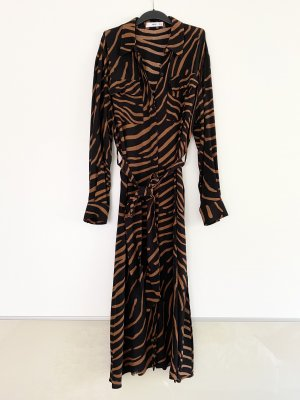 Mango Maxi Kleid Hemdkleid Zebra Muster Print Ausverkauft Blogger