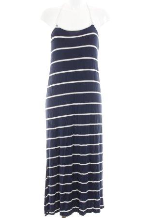 Mango Maxikleid dunkelblau-weiß Streifenmuster