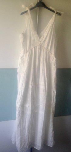 Mango Sukienka maxi biały Bawełna