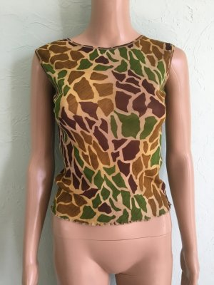 Mango Mesh Top Animal Print Giraffe