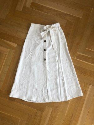 Mango Spódnica midi biały-w kolorze białej wełny
