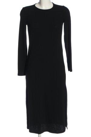 Mango Midi Dress black cable stitch casual look