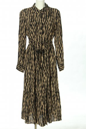Mango Midi Dress brown-black allover print casual look