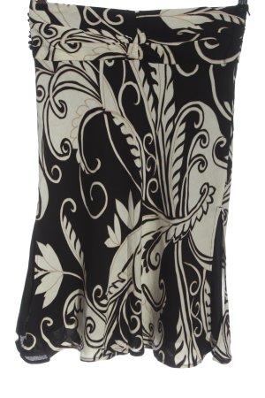 Mango Spódnica midi czarny-biały Na całej powierzchni W stylu casual
