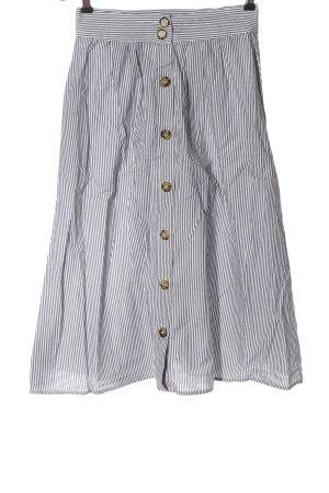 Mango Spódnica midi jasnoszary-biały Wzór w paski W stylu casual