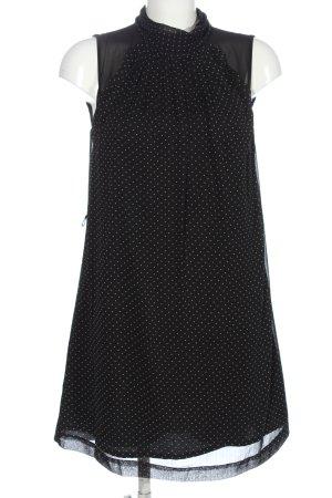 Mango Minikleid schwarz-weiß Punktemuster Elegant