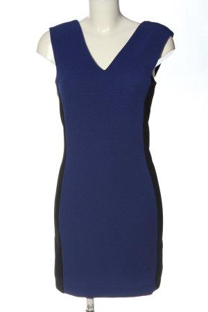 Mango Minikleid blau-schwarz Elegant