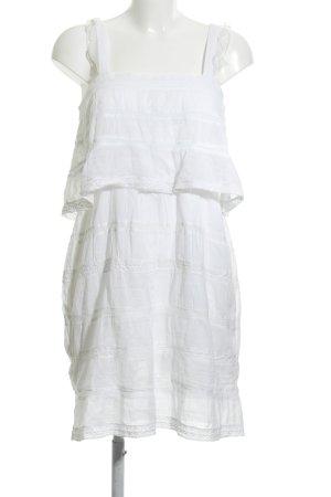 Mango Minikleid weiß Streifenmuster Casual-Look