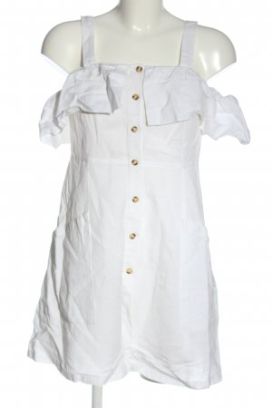 Mango Mini vestido blanco look casual
