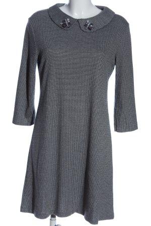 Mango Minikleid weiß-schwarz Allover-Druck Business-Look