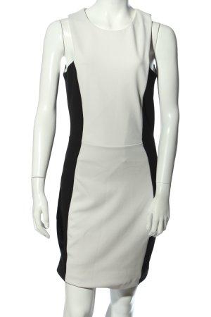 Mango Minikleid weiß-schwarz Elegant
