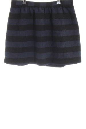 Mango Minirock blau-schwarz Streifenmuster Casual-Look