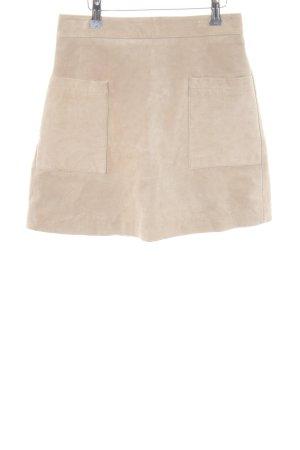 Mango Minifalda beige elegante