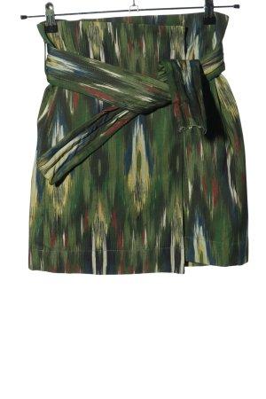 Mango Miniskirt green-primrose abstract pattern casual look