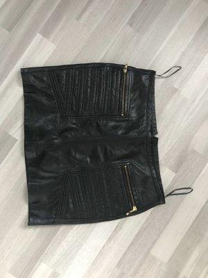 Mango Suit Leren rok zwart