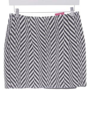 Mango Minirock schwarz-weiß Streifenmuster Casual-Look