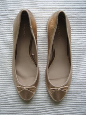 Mango Slingback Ballerinas gold-colored