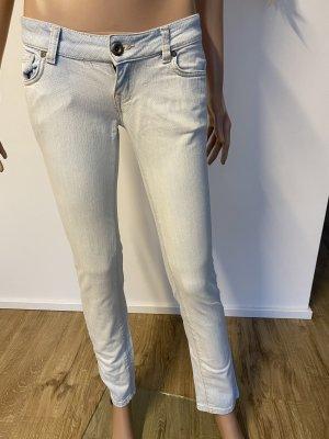 Mango Jeansy z prostymi nogawkami błękitny