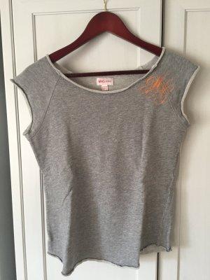 Mango MNG Jeans, T-Shirt mit Aufdruck, grau, Gr. M