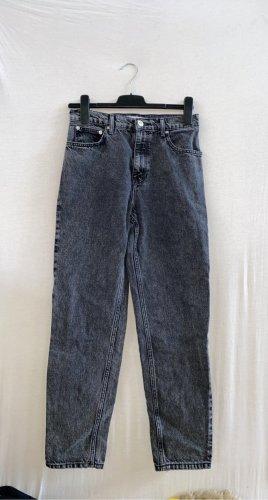 Mango Mom-Jeans black-light grey