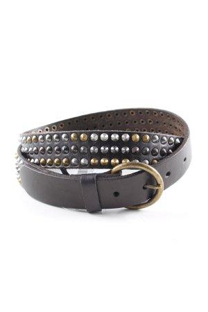 Mango Studded Belt black casual look