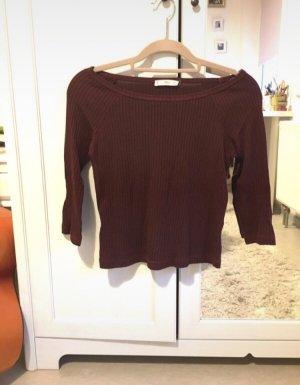 Mango Empiècement de blouses brun rouge-bordeau