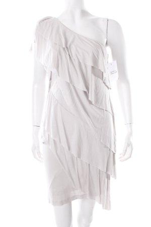 Mango One-Shoulder-Kleid hellgrau Party-Look