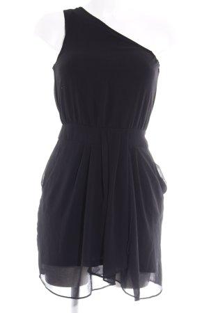 Mango One-Shoulder-Kleid schwarz Party-Look