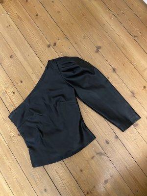 Mango One Sleeve Shirt Leather Faux Leder Zara