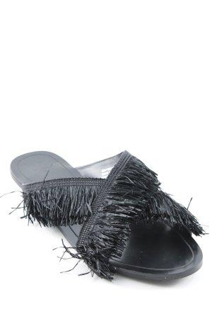 Mango Sandale d'extérieur noir style décontracté