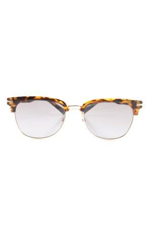 Mango Ovale zonnebril bruin-zwart volledige print casual uitstraling