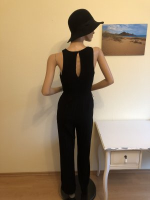 Mango Overall Jumpsuit lang Viskose elegant schwarz XS 34
