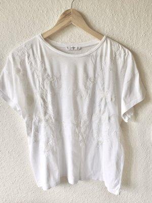 Mango Oversize Shirt weiß creme Gr. S