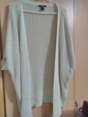 Mango Suit Cárdigan de manga corta blanco puro