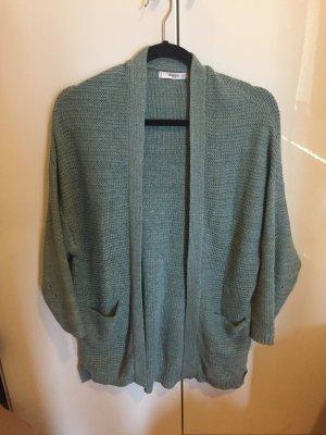 Mango Cardigan a maglia grossa verde-grigio-azzurro Cotone