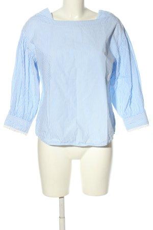 Mango Oversized Bluse blau-weiß Streifenmuster Casual-Look