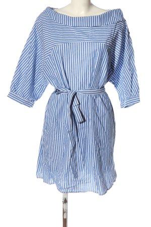 Mango Bluzka oversize niebieski-biały Na całej powierzchni W stylu casual