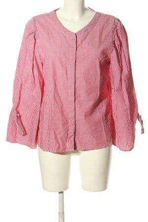 Mango Oversized Bluse pink-weiß Streifenmuster Casual-Look
