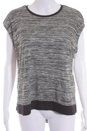 Mango Oversized Shirt grau-schwarz meliert Casual-Look